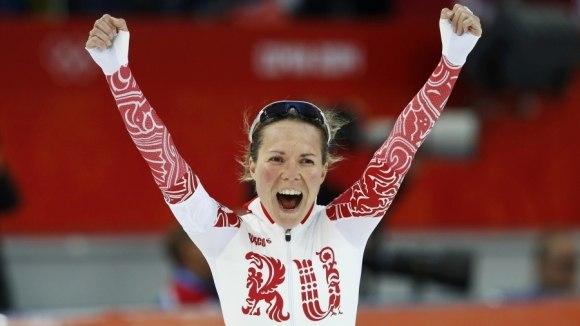 Первая медаль России на играх в Сочи