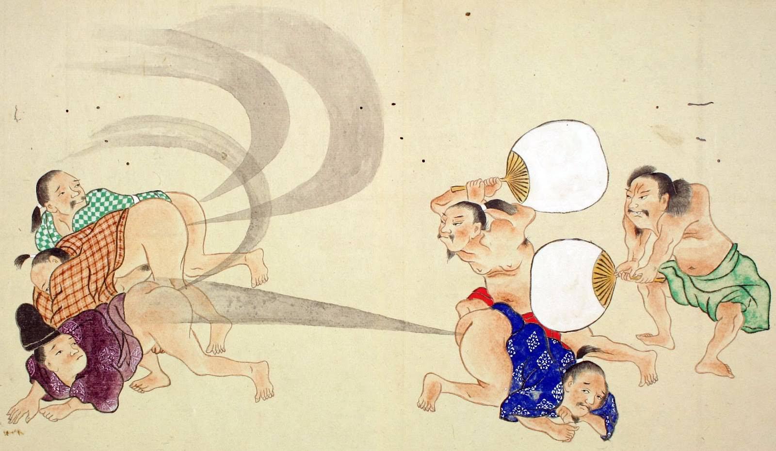 Древние традиции Японии. Пук-конкурс