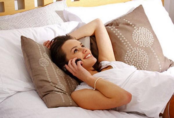 разговор с любимым по мобильному